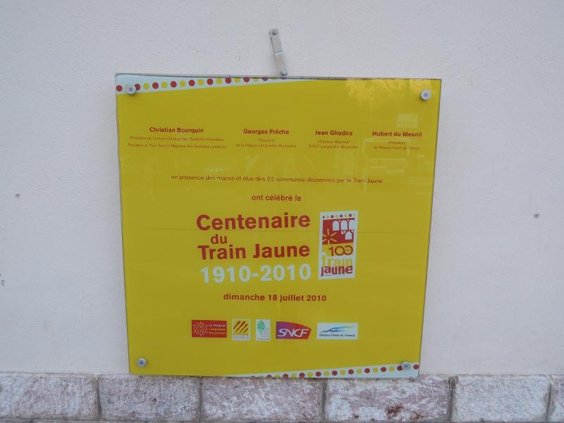 Gedenktafel an 100 Jahre Ligne de Cerdagne