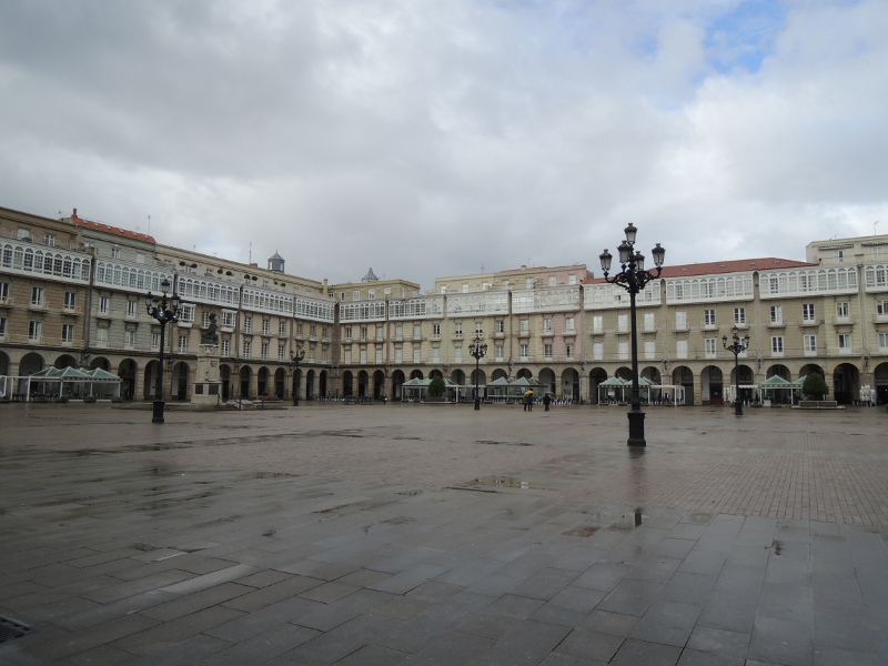 Umbauter Platz in La Coruña