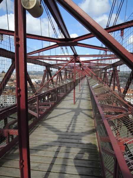Oberer Steg der Puente Colgante