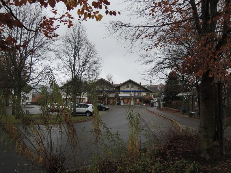 Blick auf Bodenmais vom Bahnhof aus