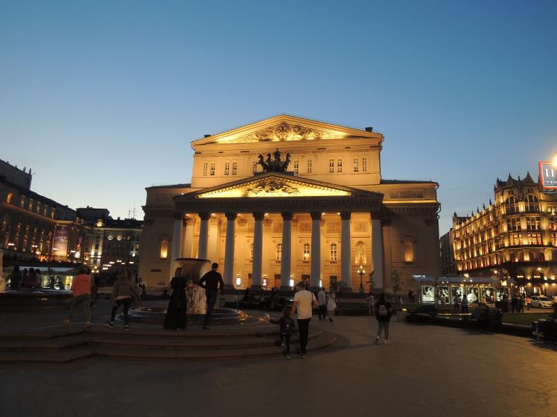 Bolschoi-Theater bei Nacht