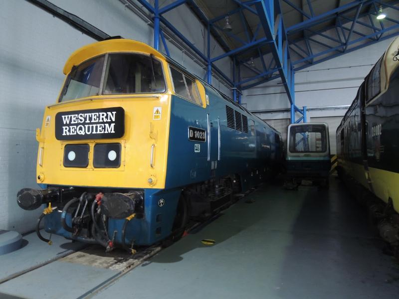 Diesellok im National Railway Museum