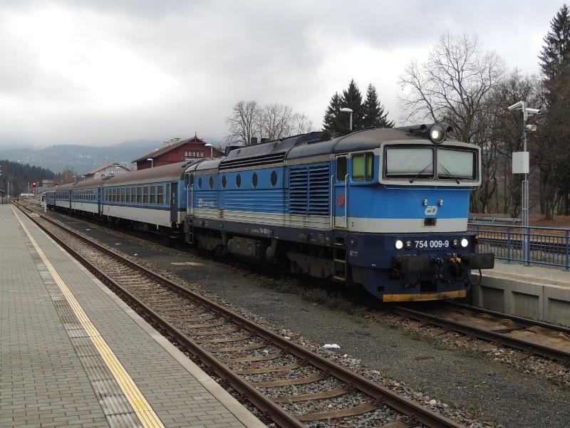 ČD-Baureihe 754 in Železná Ruda-Alžbětín