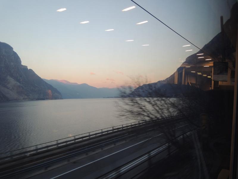 Comer See vom Zug aus