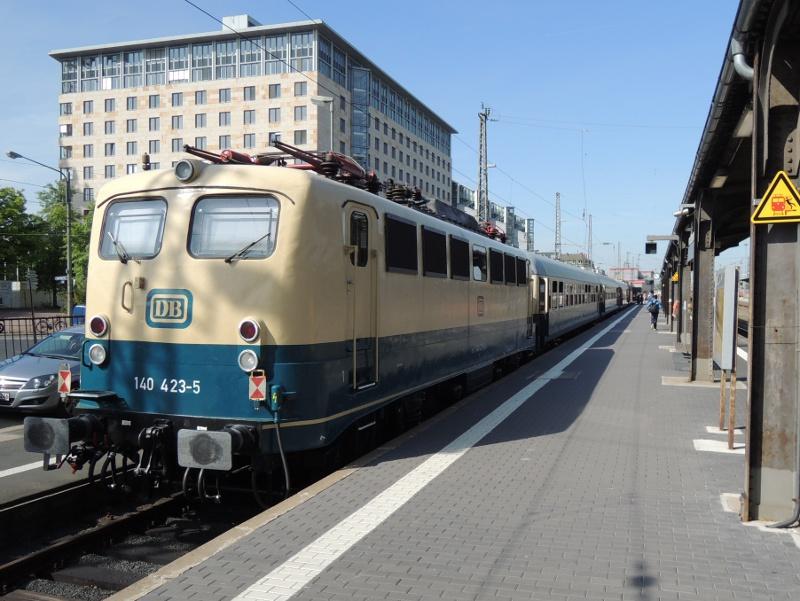 Eine Zuglok des Sonderzuges zum DB-Museum Koblenz