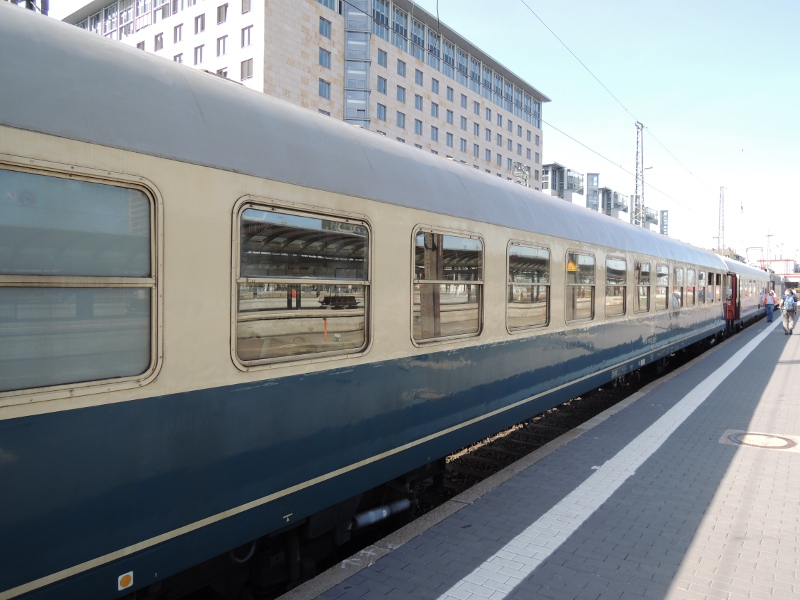 Ein Wagen des Sonderzuges zum DB-Museum Koblenz