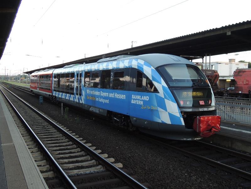 Desiro der Westfrankenbahn mit Bayern-Rauten