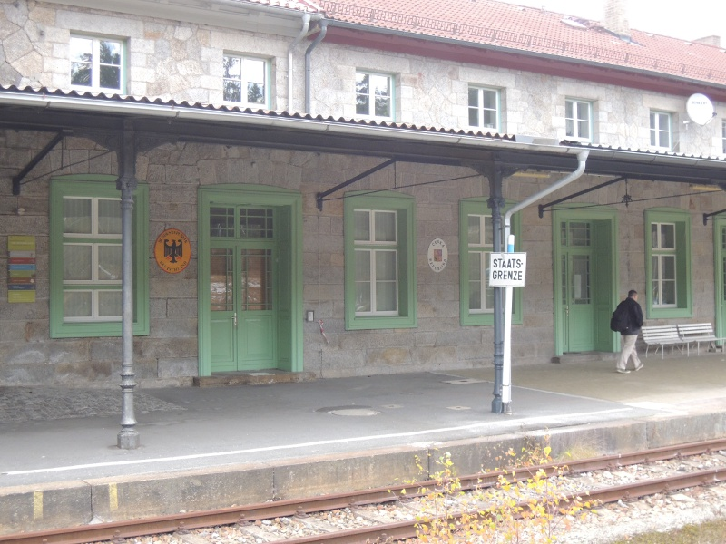 Bahnhof Bayerisch Eisenstein/Železná Ruda-Alžbětín