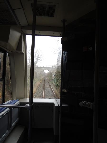 Blick auf die Strecke zwischen Naumburg Hbf und Ost