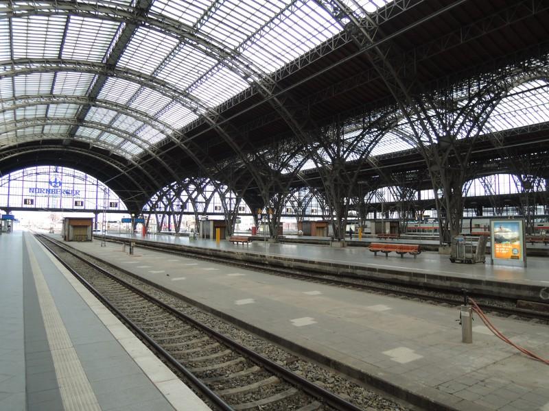 Bahnsteighalle von Leipzig Hbf