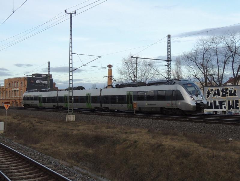 442 der mitteldeutschen S-Bahn in Leipzig Nord