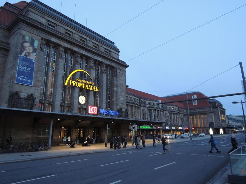 Fassade von Leipzig Hbf