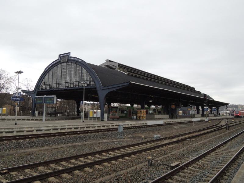 Bahnhofshalle von Gera Hbf