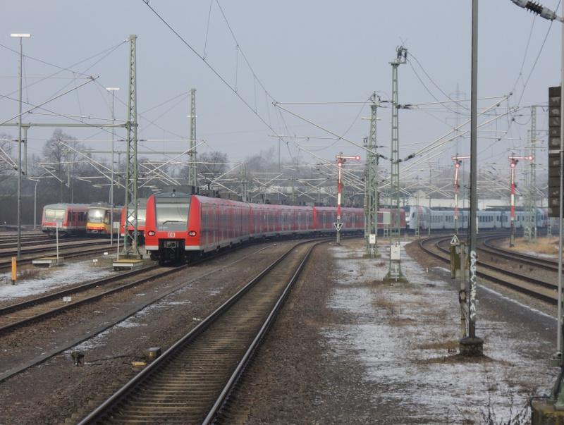 Blick auf die Abstellgleise in Germersheim