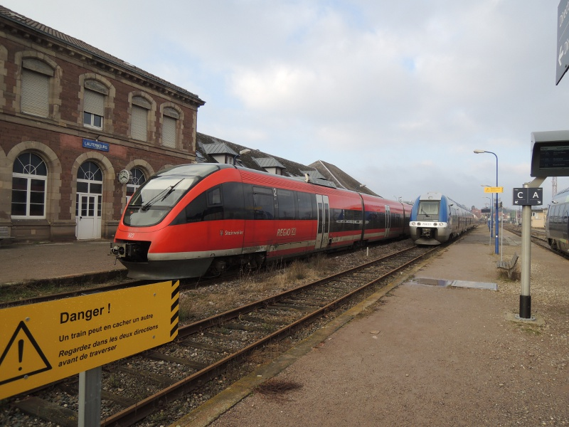DB-Talent und SNCF-AGC in Lauterbourg