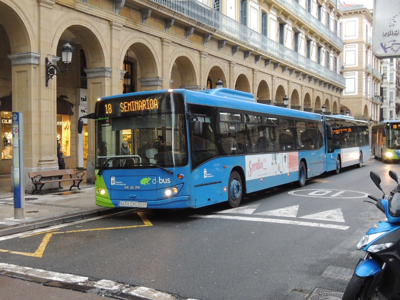 Dbus in Donostia-San Sebastián