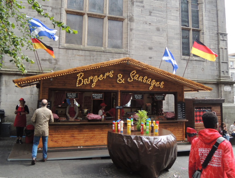 Bratwurststand in Edinburgh