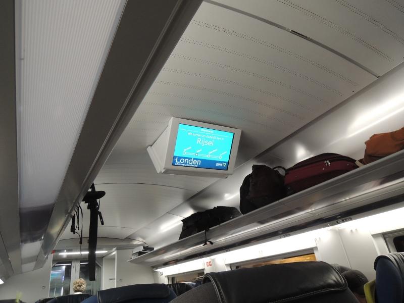 Deckengondel im Eurostar 320
