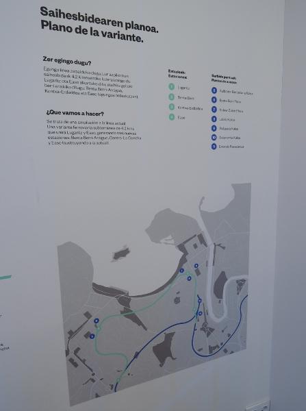 Plan des im Bau befindlichen Tunnels in Donostia