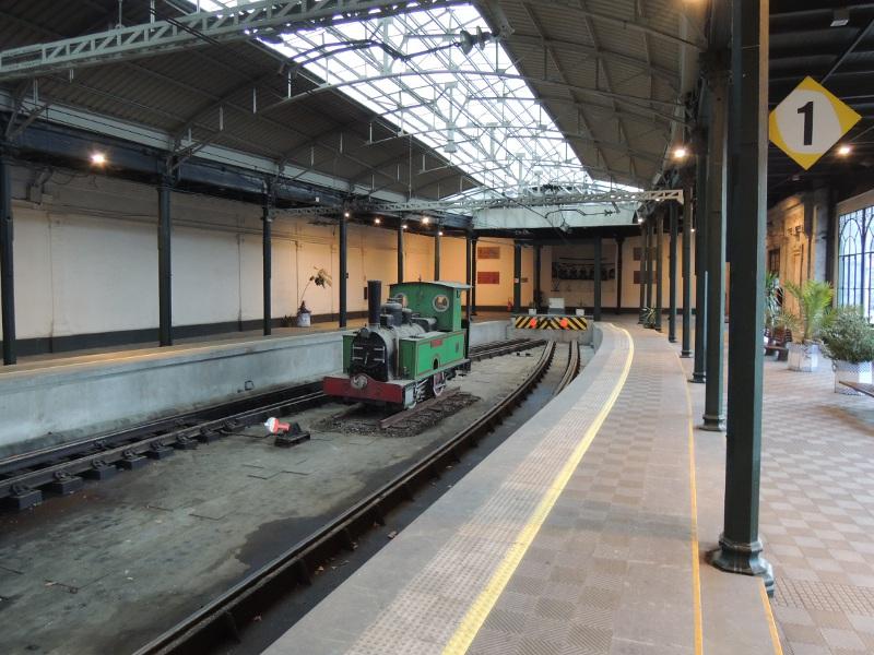 Blick in den Bahnhof Bilbao-La Concordia