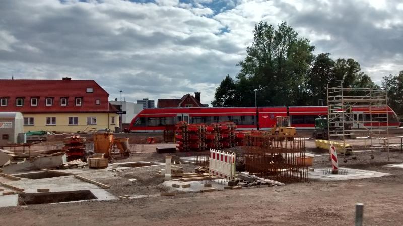 Baustelle am Bf Korbach