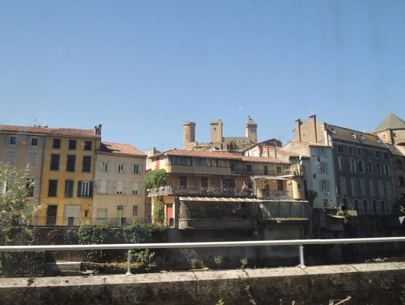 Altstadt von Foix mit Burg