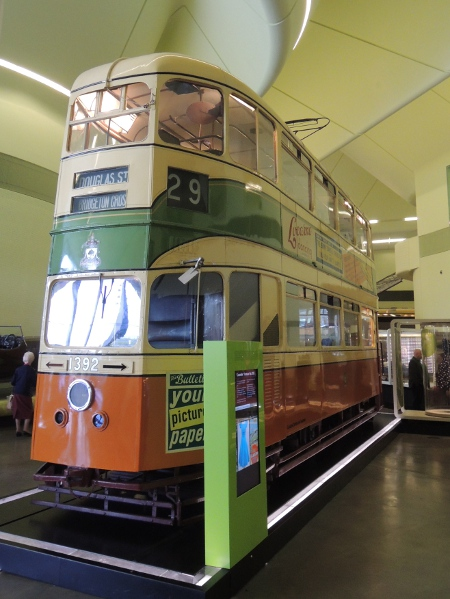 Doppelstock-Straßenbahn der Corporation Tramway