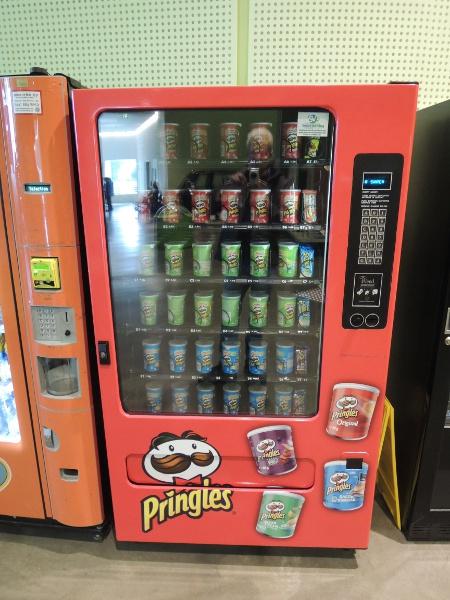 Pringles-Automat im Riverside Museum