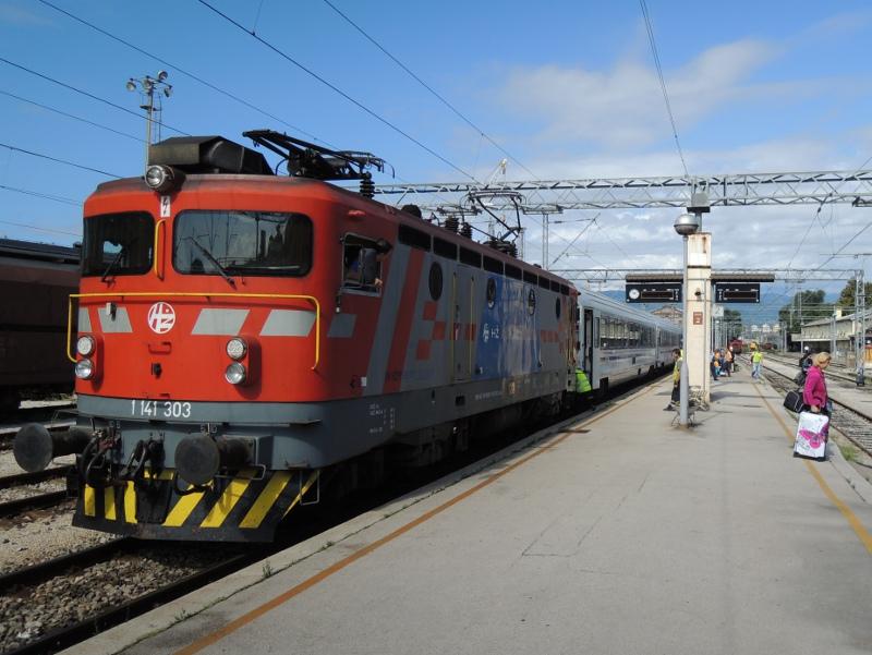 Zug München-Rijeka nach der Ankunft