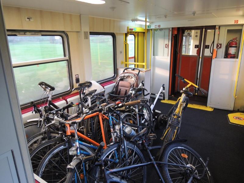 Fahrradbereich des Locomore