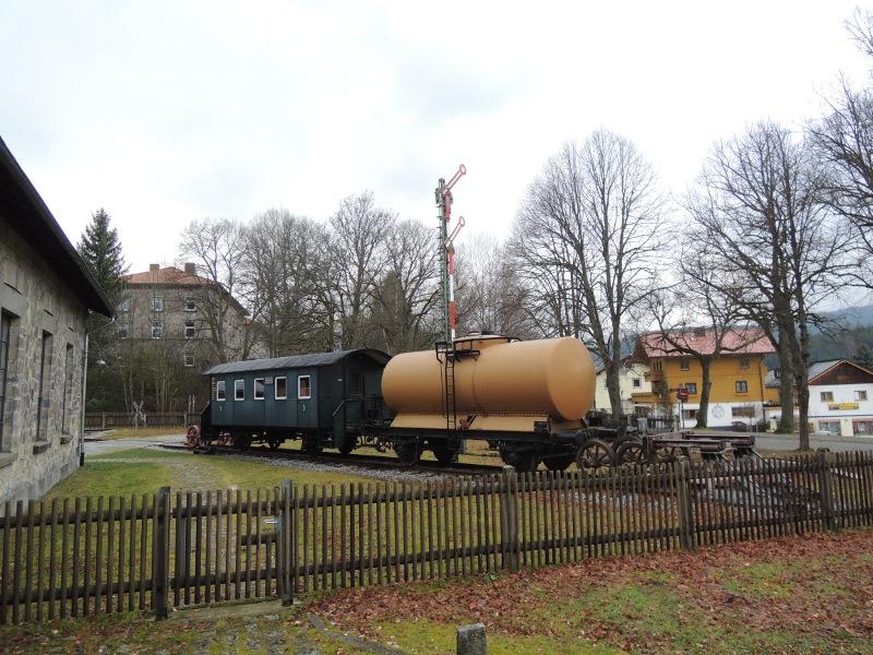 Außengelände des Lokalbahnmuseums Bayerisch Eisenstein