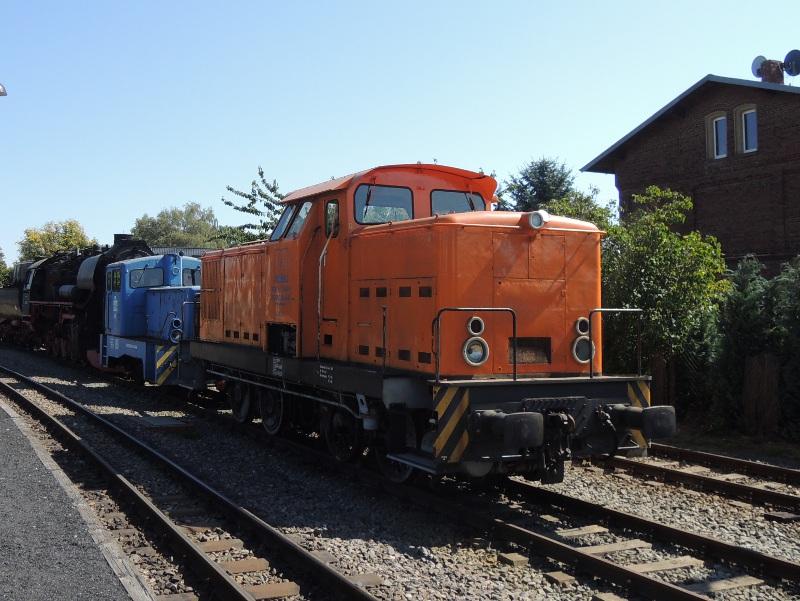 Normalspur-Diesellok der Mansfelder Bergwerksbahn