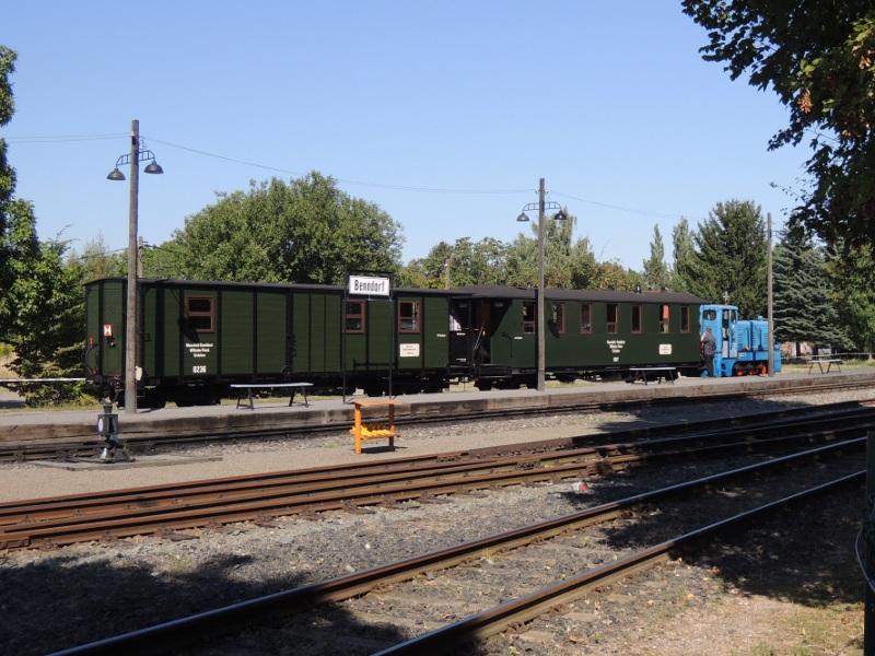 Abfahrbereiter Zug der Mansfelder Bergwerksbahn