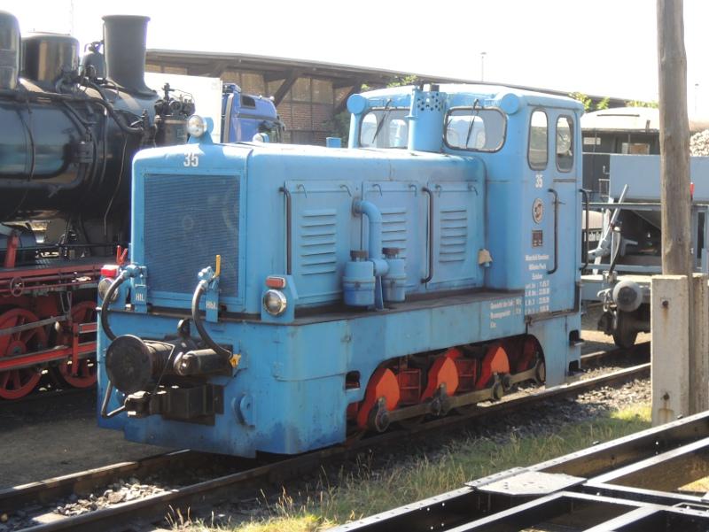 Schmalspur-Diesellok der Mansfelder Bergwerksbahn