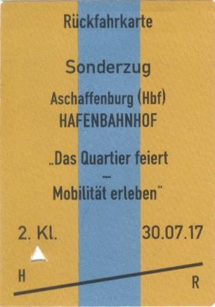 Kostenlose Fahrkarte für die Sonderfahrt auf der Hafenbahn