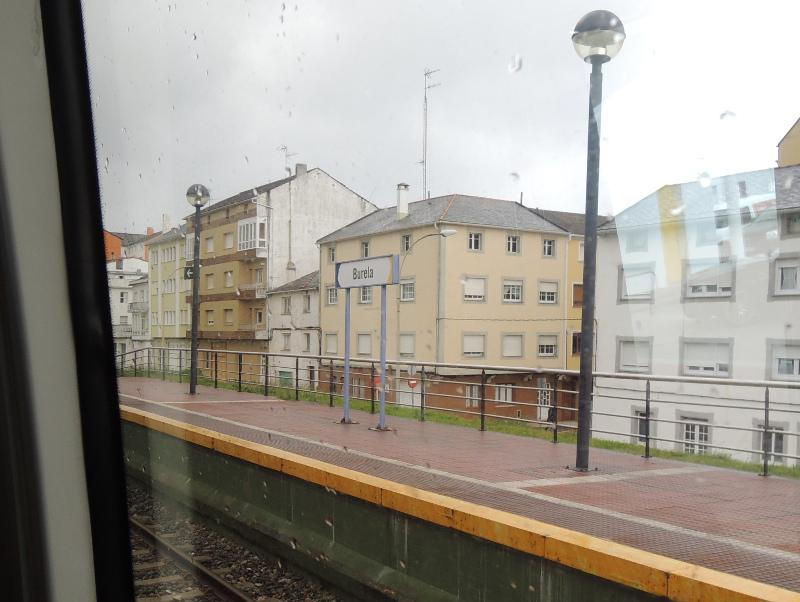 Burela: Wieder im Zug