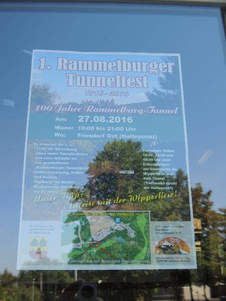 Plakat für das Rammelsburger Tunnelfest