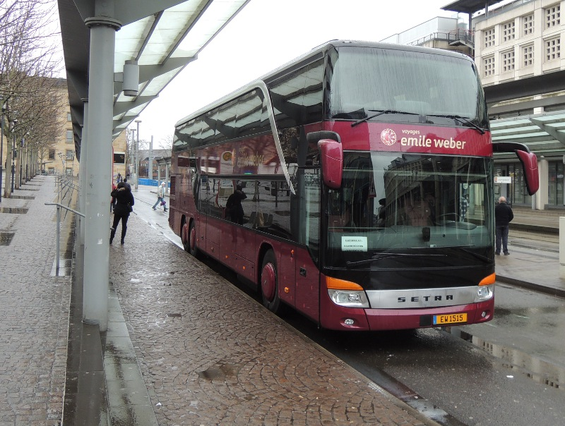 Emile-Weber-Doppeldeckerbus in Saarbrücken