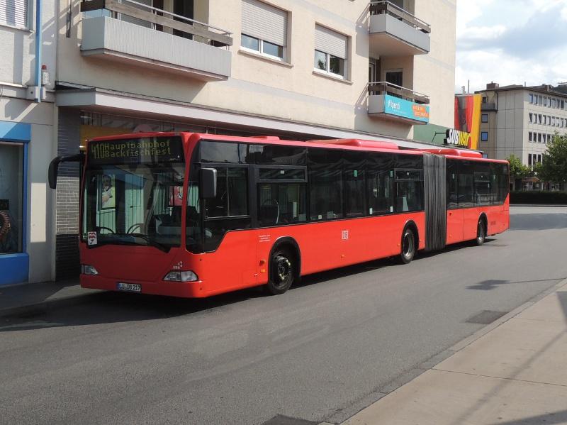 Neuerer Mercedes-Gelenkbus von Rheinpfalzbus