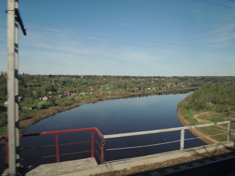 Landschaft zwischen St. Petersburg und Moskau