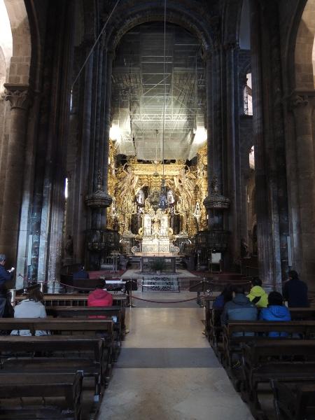 In der Kathedrale von Santiago de Compostela