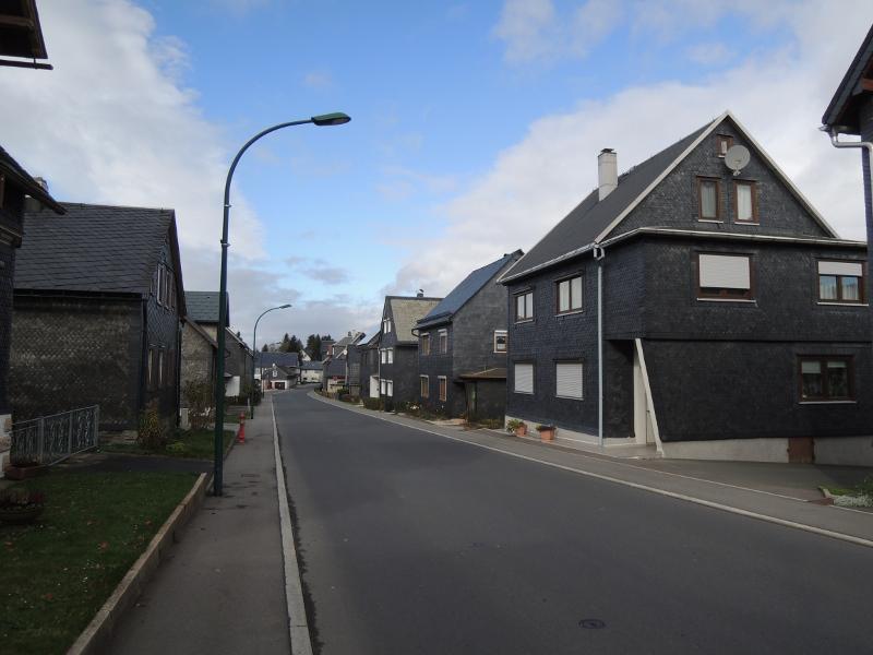 Schieferverkleidete Häuser in Cursdorf