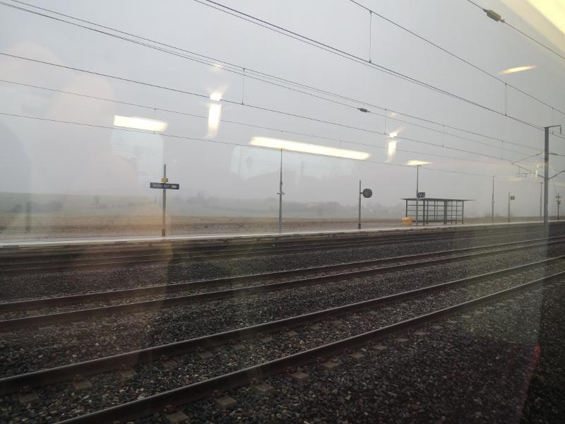 Schneegestöber in Meuse TGV