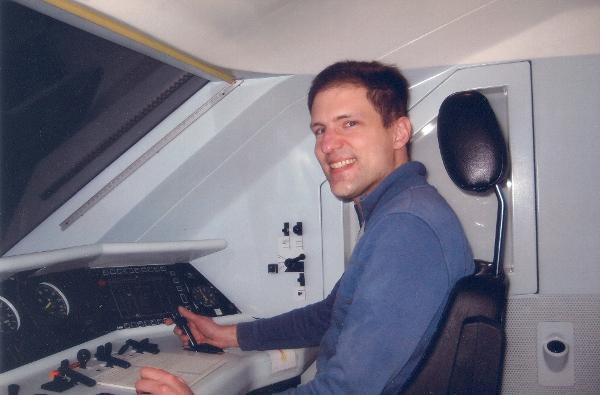 Jan im Simulator