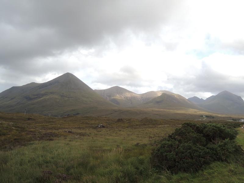 Landschaft in der Mitte der Insel