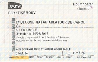 Tikémouv-Fahrkarte