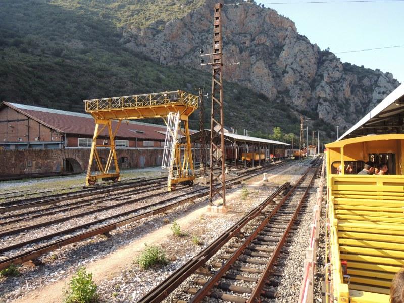 Betriebswerk des Train jaune