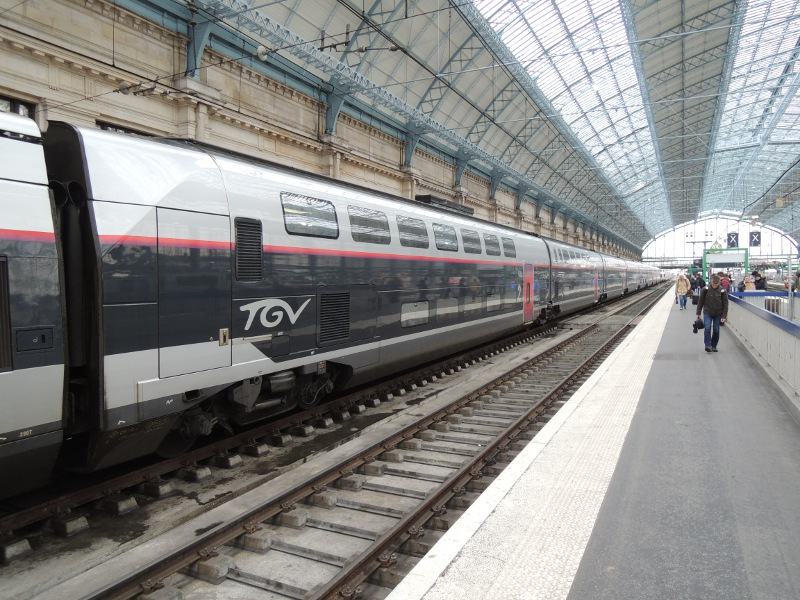 TGV Duplex in Carmillon-Lackierung in Bordeaux-Saint-Jean