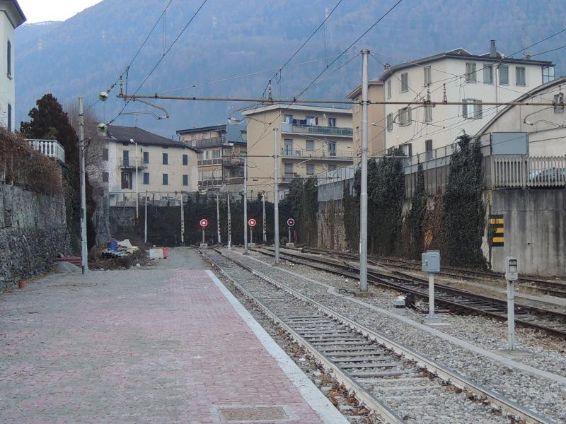 Streckenende in Tirano