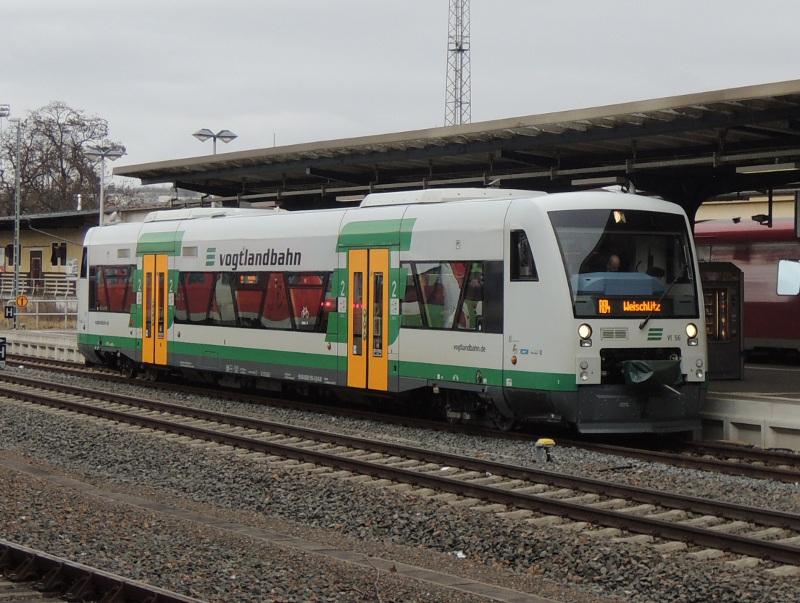 Regio-Shuttle der Vogtlandbahn in Gera Hbf